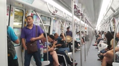 Shenzhen, China: take Metro Line 11 Stock Footage