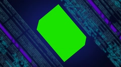 Computer matrix - virtual vortex - hall - data streaming - sharp number - ben Stock Footage