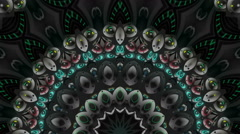 Music kaleidoscope stage visual - stock footage
