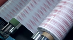 The application of the adhesive tape 3 Stock Footage