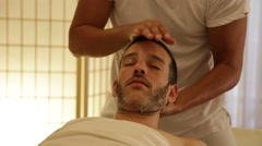 Hed and neck massage Stock Footage