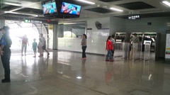 Shenzhen, China: Shajing Metro Station Stock Footage