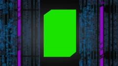 Computer matrix - virtual vortex - hall - data streaming - sharp number - gre Stock Footage