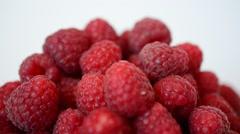Shooting of raspberry. - stock footage