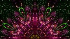 Dancing kaleidoscope loop - stock footage