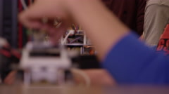 Engineering students - robotics Stock Footage