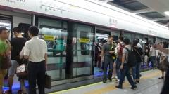 Shenzhen, China: Shajing Metro Station Stock Footage