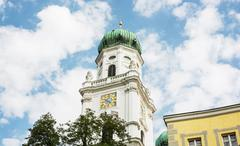 Famous Saint Stephen's cathedral in Passau, Germany - stock photo