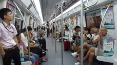 Shenzhen, China: take Metro Line 11 Stock Footage