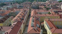 Aerial view of Zadar, Croatia Stock Footage