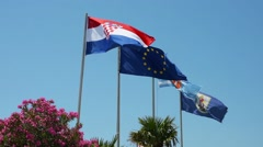The croatian flag Stock Footage