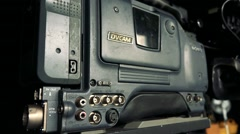 View on camera from profile Stock Footage
