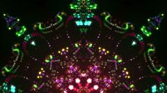 Disco kaleidoscope stage visual - stock footage