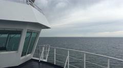 Ferry the Vogelfluglinie between Denmark and Germany towards Puttgarden Stock Footage