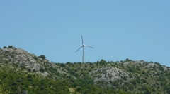 wind turbines on the hill - stock footage