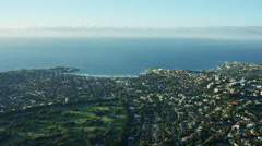 Aerial view of Bondi Beach Sydney Australia Stock Footage
