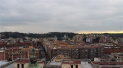 View from St. Peter in Vatican Stock Footage
