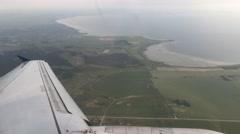 Landing at the Kastrup Copenhagen International Airport Stock Footage