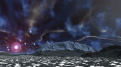 The star in the halo, nebulae and clouds Stock Footage