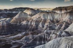 Blue Mesa Petrified Forest National Park, Arizona United States - stock photo