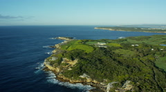 Aerial view of Cape Banks Helicopter base Sydney Australia Stock Footage