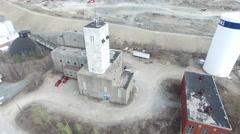 Timmins Ontario Mining Aerial - buildings Stock Footage