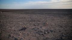Nazca desert with the rocks in the background Stock Footage