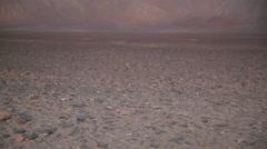 Sunset over the Nazca desert Stock Footage