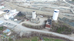 Aerial of Mining Operation in Northern Ontario Canada - Timmins Stock Footage