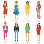 Fashion Evolution Icons Set - stock illustration