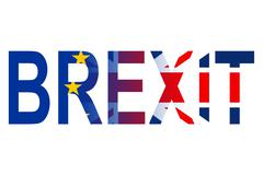 Brexit Word Represents Britain Eu Union And Great Stock Illustration