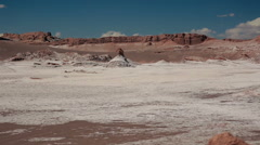 Dried salt in the Atacama Desert, Chile Stock Footage