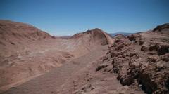 Road in Atacama desert, Chile Stock Footage