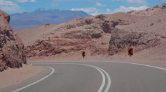Road in Atacama desert, Chile - stock footage