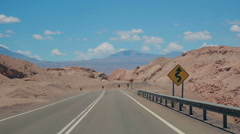 Express Route 27 in the Atacama desert, Chile Stock Footage