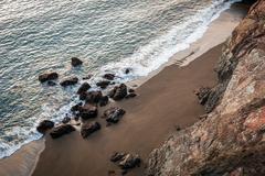 Marin Headlands, Rodeo Beach, California, USA - stock photo