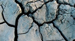 Dried Creek from mud volcanoes - stock footage