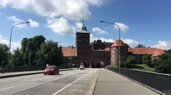 The Burgtor in Lübeck Stock Footage