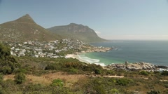 Coastline of Capetown, South Africa Stock Footage