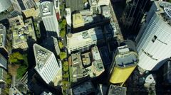 Aerial view of city buildings Downtown Skyscrapers Sydney Australia Stock Footage