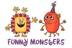 Cartoon Monsters Set Stock Illustration