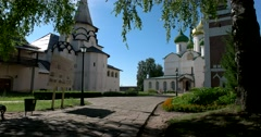 the territory of the Saviour Monastery of St Euthymius in Suzdal - stock footage