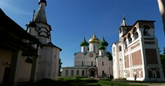 The territory of the Saviour Monastery of St Euthymius. Suzdal Stock Footage