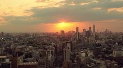Tokyo Sunset Timelapse Stock Footage