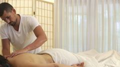 Woman At Massage therapy Stock Footage