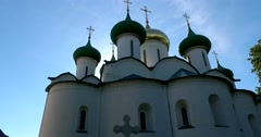 Transfiguration Cathedral in Saviour Monastery of St Euthymius. Suzdal Stock Footage