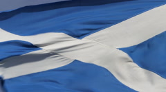 Scottish Saltire blowing in the Wind Stock Footage
