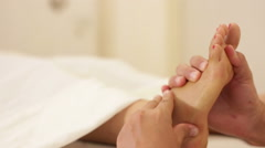 Women foot massages Stock Footage