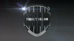 Triathlon - Chrome Stock Footage