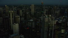 Aerial view of city Skyscrapers Downtown Sydney Australia Stock Footage